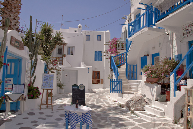 Calles de Mykonos